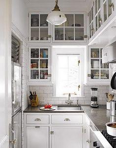 Beautiful light, small kitchen.
