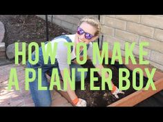 Part 1: How to Make a Planter Box