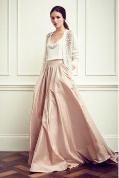 full skirts, jenny packham resort 2015, around the house, pale pink, long skirts