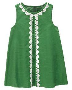 gymboree, summer dresses, birthday dresses, pom poms, cloth, green dress, kelly green, babi, gymbore dress