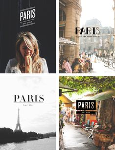 Great idea for a trip - for each day, pick a photo, and then play around with the typography for the different locations those photos were taken. Paris Typography | The Fresh Exchange //// LOVE