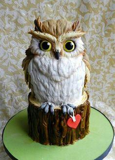Pinner says: Amazing owl cake by Cake Whisper