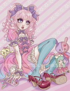 [ • sweet lolita - illustration - pastel - kawaii • ]