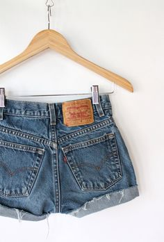 Vintage 80s Levis Denim Cut Offs - looking forward to making some of these soon :)