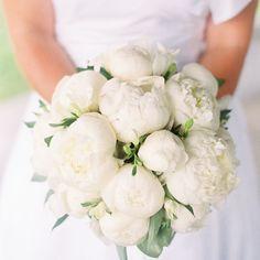 White peony bridal bouquet | Stephanie Hunter Photography