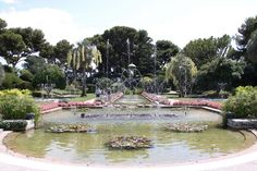 Musical fountains at Villa Ephrussi de Rothschild, Saint-Jean-Cap-Ferrat, France