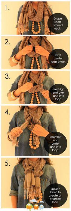 To braid a scarf