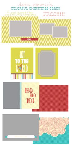 FREE CHRISTMAS CARD TEMPLATES!!!