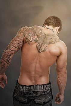 Upper Back Tattoo Male