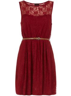Wine lace insert dress. So pretty!