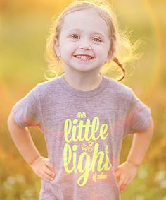 Another great find on #zulily! Gray 'Light of Mine' Tee - Infant, Toddler & Kids by Tiny Vines #zulilyfinds