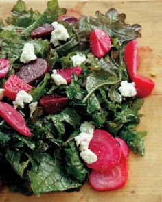 Beet and Kale Salad with Goat Cheese