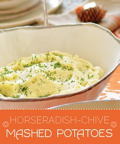 How To Make Horseradish-Chive Mashed Potatoes For Thanksgiving...with a couple vegan subs.