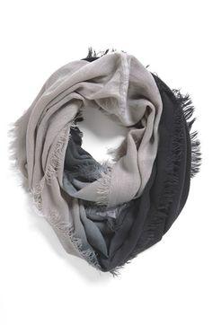 Ombré grey scarf
