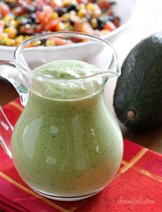 zesty avacado cilantro dressing - Oh, yes! Great idea. I've looked at this recipe and think I will adjust it a bit to make it more healthy. But I like the basic recipe!
