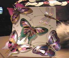 Farfalle da bottiglie di plastica