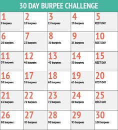 30 day Burpee challenge @Michelle Renee lets do this!