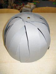 Resultaat van helm bovenaanzicht.