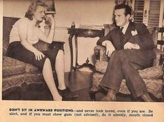 ONLY BORING WOMEN ARE EVER BORED. | 10 Dating Tips For Single Women (From The 1930s)