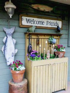 Annie Grossart-Steen's dressed up dry sink garden grow, market garden, garden idea