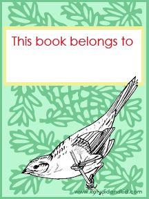 Katydid and Kid: #Free #Printable #Bird #Bookplate