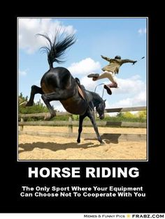 riding is a sport