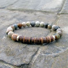 Men's Picasso Jasper Bracelet by Rock & Hardware Jewelry