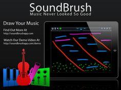 Soundbrush - an iPad app that lets you visually paint music