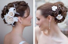 Floral Hair Clips for the Bride