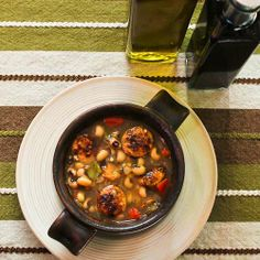 Black-Eyed Soup with Chicken-Garlic Sausage and Bell Peppers from Kalyn's Kitchen  [#SouthBeachDiet friendly #Recipe]