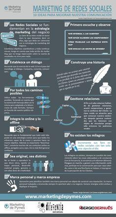 10 ideas para mejorar tu comunicación en redes Sociales #infografia
