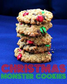 Christmas Monster Cookies