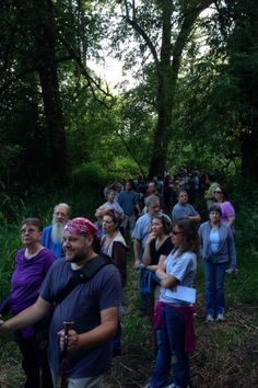 The city held a maiden hike along the trail to receive citizen input about the design.