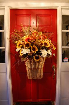 .Fall door basket