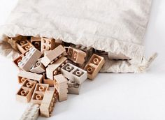 Wooden LEGOs! The maple and birch Mokulock bricks actually fit with your existing sets. Beautiful.