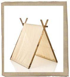 A frame canvas tent