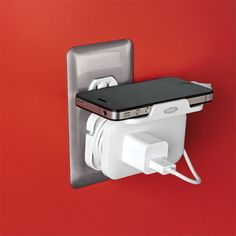 Use this handy, non-slip Plug-In Charging Shelf to hold your mobile phone, digital camera or MP3 ...