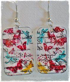 shrink plastic earrings by Kraftarije