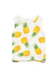 Pineapple Print Tank Top (Kids) | FOREVER21 #F21Girls