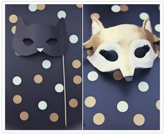 Fun party masks photo booth props, parti mask, parties, fun parti, masks, palm spring, photo booths, black gold, parti idea