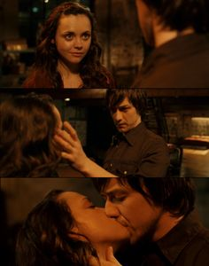 Penelope - Penelope and Johnny --> I hate to be a sap, but this is one of my favorite movie kisses