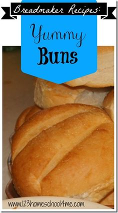 Breadmaker #recipes - yummy homemade buns (hamburger buns, hotdog buns, sandwich rolls, and more)