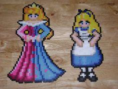 Aurora and Alice Disney  hama perler beads by RoninEclipse2G on deviantart