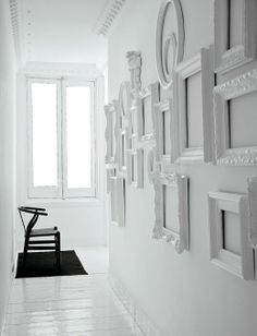 White picture frames.