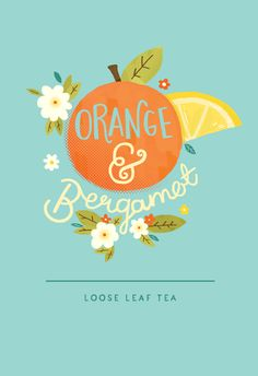 Tea Packaging by Steph Baxter / Lettering