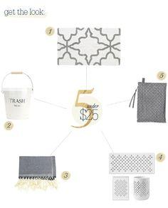 Pretty Gray Bathroom Accessories Under $25