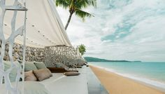 Front row seat to relaxation at Casa de La Flora #thailand #beach