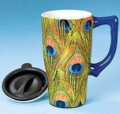Peacock Travel Mug @ Harriet Carter