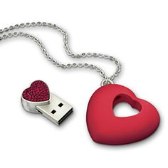 USB Heart Necklace