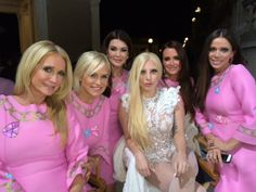 The Real Housewives of Beverly Hills and Lady Gaga on the set of her G.U.Y. video